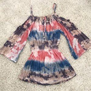 NWOT Off The Shoulder Boho Dress / One Size